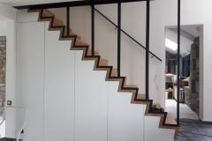 Paroi vitrée fixe pour fermer le trou de l'escalier