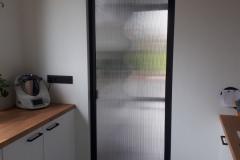 Paroi vitrée simple ouvrant avec vitrage occultant